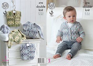 Read more about King cole baby drifter double knit knitting pattern 4798