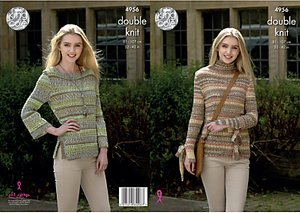 Read more about King cole drifter chunky women s jumpers knitting pattern 4956