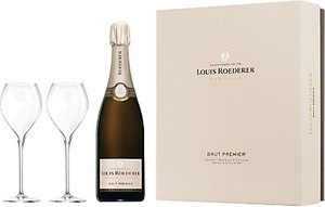 Read more about Louis roederer brut premier nv champagne with glasses 75cl
