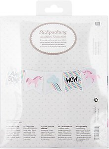 Read more about Rico unicorn bunting cross stitch kit