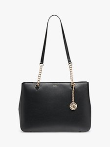 Read more about Dkny bryant park leather shoulder bag black