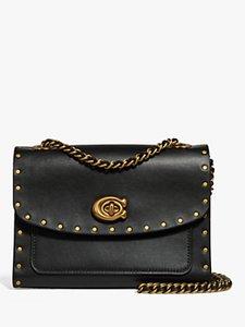 Read more about Coach rivets parker stud shoulder bag black