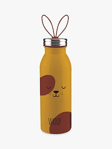 Read more about Aladdin woof dog stainless steel vacuum insulated water bottle 450ml brown yellow
