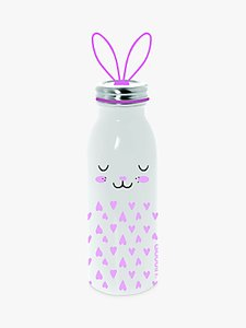 Read more about Aladdin rabbit stainless steel vacuum insulated water bottle 450ml pink white
