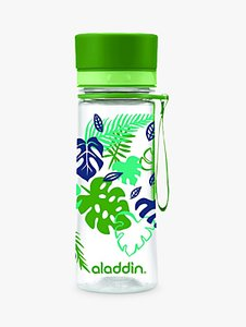 Read more about Aladdin aveo leaf print water bottle 350ml green