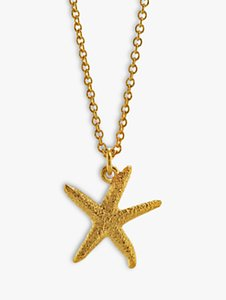 Read more about Alex monroe starfish pendant necklace gold