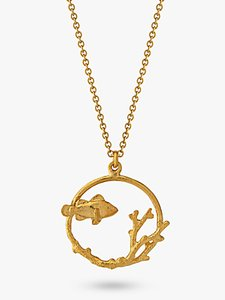 Read more about Alex monroe clownfish and coral pendant necklace gold