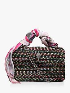 Read more about Kurt geiger tweed kensington shoulder bag black