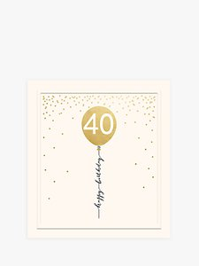 Read More About Woodmansterne Balloon 40th Birthday Card