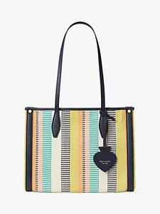 Read more about Kate spade new york canvas woven tote bag multi