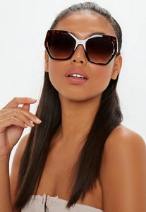 Read more about Brown large frame tortoise shell sunglasses brown