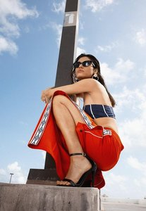 Read more about Umbro x missguided red tape leg tricot track pant red