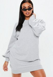 Read more about Grey balloon sleeve sweater dress grey