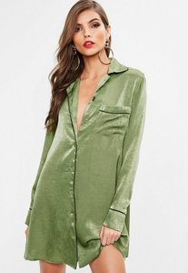 Read more about Khaki pj shirt dress green