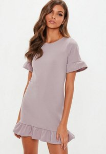Read more about Lilac frill shift dress grey