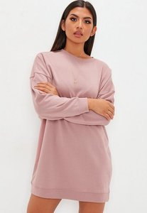 Read more about Pink oversized plain sweater dress pink