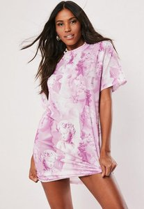 Read more about Pink statue graphic print t shirt dress pink