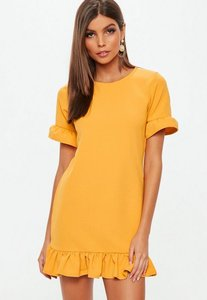 Read more about Orange frill detail dress yellow