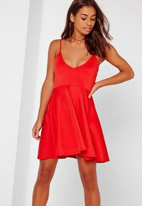 Read more about Strappy skater dress red red