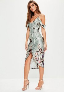 Read more about Grey frill floral midi dress grey
