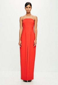 Read more about Orange bandeau tailored maxi dress orange