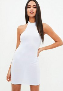 Read more about White high neck halter dress white