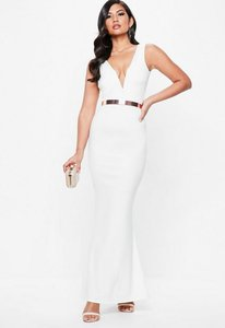 Read more about White plunge maxi dress white
