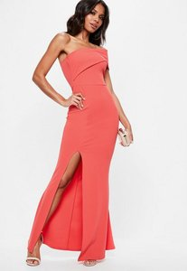 Read more about Coral one shoulder maxi dress pink