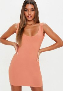Read more about Terracotta scoop back mini dress brown