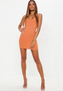Read more about Peach scoop back mini dress pink
