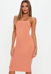 Read more about Terracotta bandeau midi dress brown