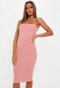 Read more about Blush strappy cami midi dress pink