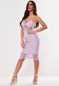 1c5c8eef307f asos premium occasion lace midi dress lilac - Shop asos premium ...