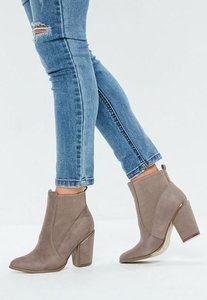 Read more about Beige western chelsea boots brown