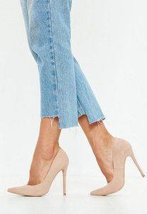 Read more about Nude pointed stiletto court shoes beige