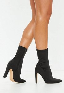 Read more about Black illusion heel sock ankle boots black