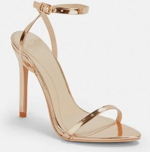 Read more about Rose gold pointed toe barely there heels pink