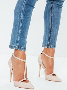 Read more about Nude t bar court shoes beige