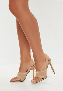 Read more about Sporty toe post sling back heels beige