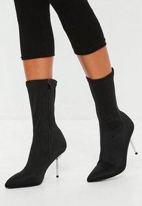 Read more about Black perspex heel sock boot black