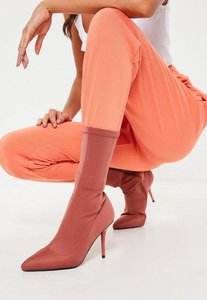 Read more about Rust perspex heel sock boot brown