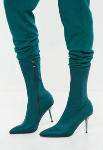 Read more about Turquoise perspex heel sock boot green