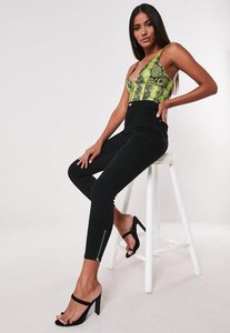 Read more about High waisted ankle grazer skinny jean black black