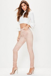 Read more about Pink rebel highwaisted metallic skinny jeans pink