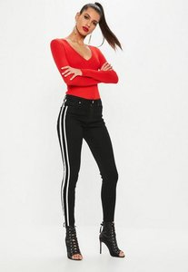 Read more about Black anarchy side stripe skinny jeans black