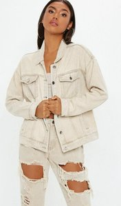 Read more about Denim sand oversized jacket nude