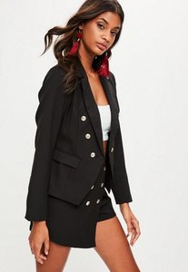 Read more about Black pink tailored military blazer jacket black
