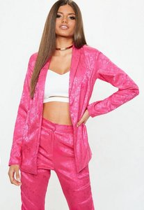 Read more about Pink jacquard pyjama style jacket pink