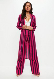 Read more about Pink colour block striped duster jacker pink