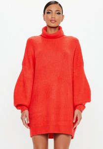 Read more about Red roll neck oversized dress red